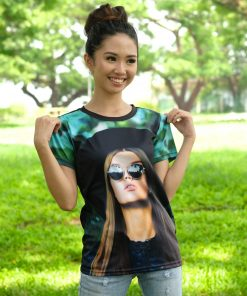 Sublimated Women's Round Neck T-Shirt