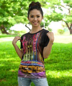 Sublimated Women's Round Neck T-Shirt