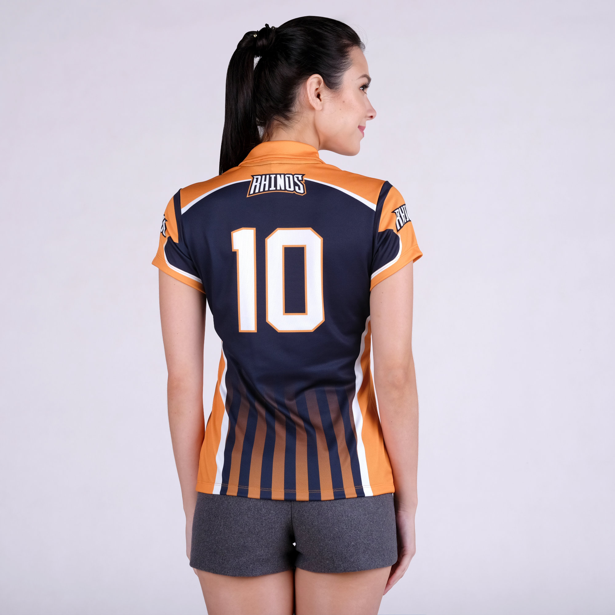 Sublimated Women's Sports Tee Collared Shirt Full Sublimation Shirt